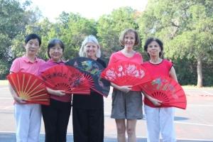 With my neighborhood Tai Chi fan club
