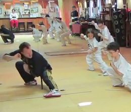 Master Gohring and beginner Tai Chi class demonstrate Nei Kung.