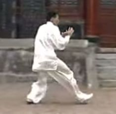 Advance with bamboo step right