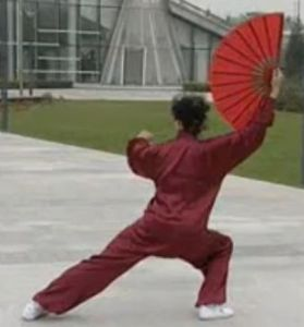 Che Bu, bow stance with hips turned sideways